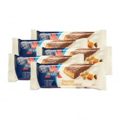 Atkins Advantage, Barre chocolatée low-carb caramel cacahuète, lot de 5