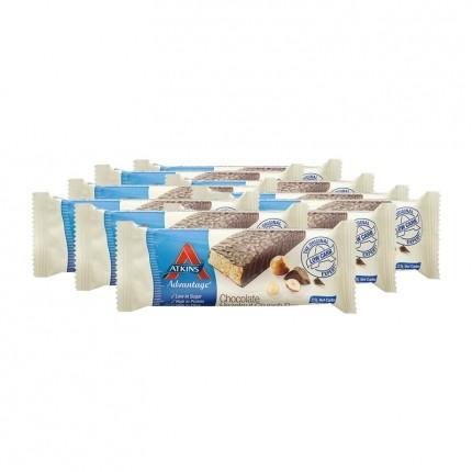 Atkins Advantage, Barre chocolatée low-carb caramel cacahuète, lot de 10