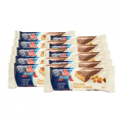 10 x Atkins Advantage Chocolate Peanut Caramel Bar, Riegel