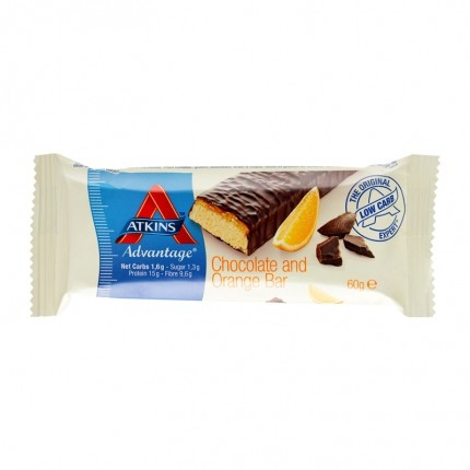 5 x Atkins Advantage Chocolate Orange Bar, Riegel