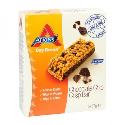 Atkins Day Break Choc Chip Crisp Bar, Riegel