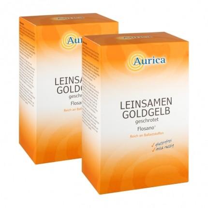 2  x Aurica Leinsamen gelb, geschrotet