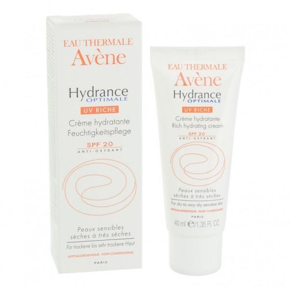 Crème UV hydratante optimale enrichissante Avène -nu3!