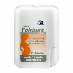 Avitale Folsäure 400 Plus B12+Jod, Tabletten