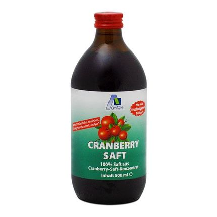 Avitale Cranberry Saft (500 ml)