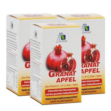 3 x Avitale Granatapfel 800 mg, Kapseln