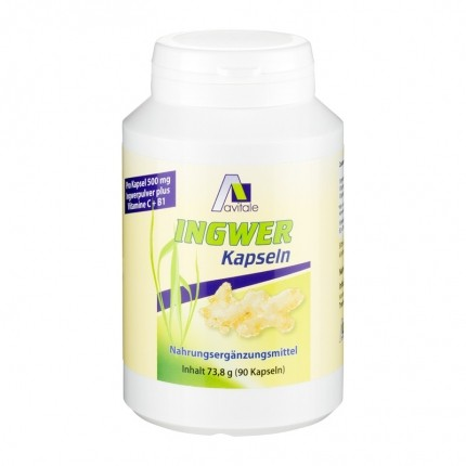 Avitale Ingwer + Vitamin B1 + Vitamin C, Kapseln