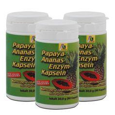 3 x Avitale Papaya-Ananas-Enzym Kapseln