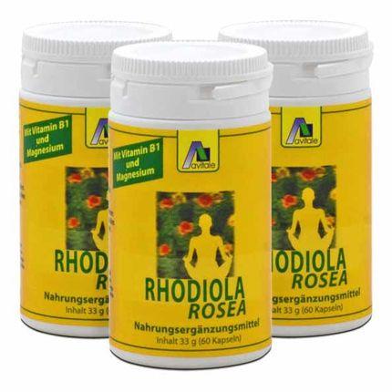 3 x Avitale Rhodiola Rosea Kapseln