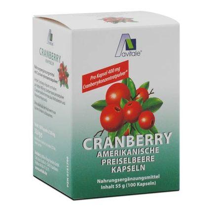 Alvitale Tranebær 400 mg, Kapsler