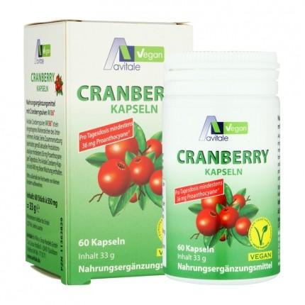 Avitale Cranberry Vegan 400 mg, Kapseln