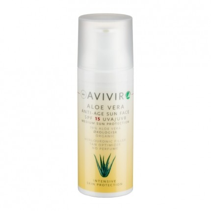 Avivir Aloe Vera Sun Face SPF 15, Solkrem
