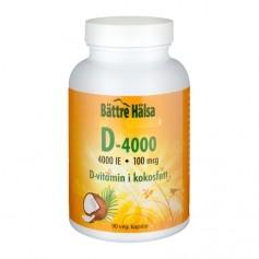 Bättre Hälsa D-4000 IE i kokosfett