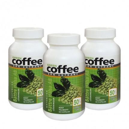 3x Bättre Hälsa Green Coffee kapslar + Nutrilett Protein Bar