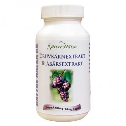 Bättre Hälsa Druvkärneextrakt + Blåbär