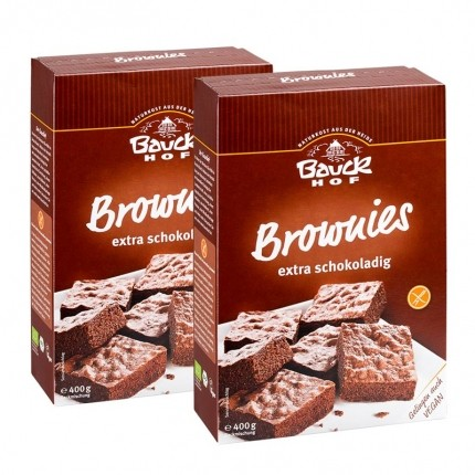 2 x Bauckhof Brownies Bio-Backmischung