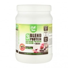 Be Green 3-Blend Protein Himbeer-Vanille + BCAA