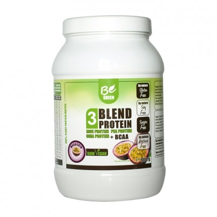 Be Green 3-Blend Protein + BCAA, Maracuja, Pulv...