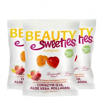 BeautySweeties Fruchtgummi-Herzen, Granatapfel-Himbeer/Pfirsich-Mango