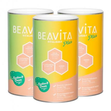 BEAVITA Vitalkost Plus, Cookies-Cream, Pulver