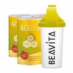 3 x BEAVITA Vitalkost mit Slim Shaker