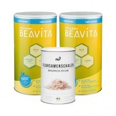BEAVITA Ballaststoff-Diät: Doppelpack Vitalkost Laktosefrei + nu3 Bio Flohsamen-Schalen