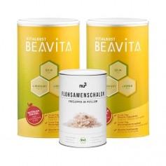 BEAVITA Ballaststoff-Diät: Doppelpack Vitalkost + nu3 Bio Flohsamen-Schalen