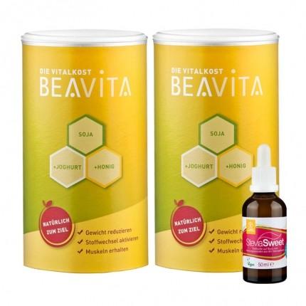 Beavita Calorie Saver Set: Vitalkost Double Pack + Stevia