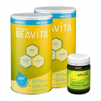 BEAVITA Fett-Weg-Diät: Vitalkost Doppelpack + allcura Chitosan