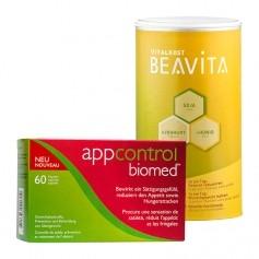 BEAVITA-Sättigungs-Diät: Doppelpack Vitalkost + Appecal-Biomed