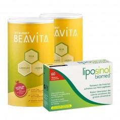 Beavita Fett-Reduzierende-Diät: Doppelpack Vitalkost + Liposinol-Biomed