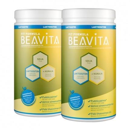 2 x BEAVITA Vitalkost laktoositon -jauhe