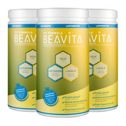 3 x BEAVITA Vitalkost laktoositon -jauhe