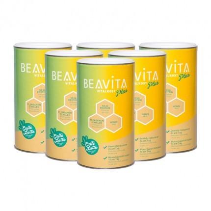 BEAVITA Vitalkost Plus, Caffè Latte Offline, VPE 6er Pack