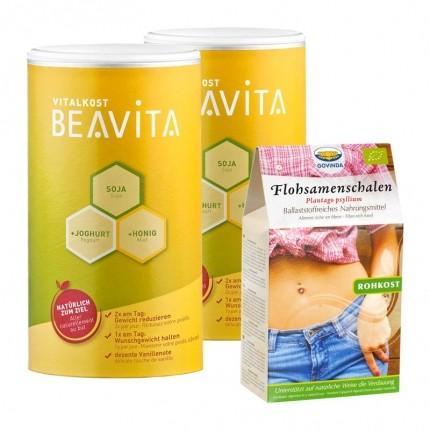 Beavita Ballaststoff Diät: Vitalkost Doppelpack + Govinda Flohsamenschalen
