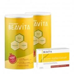 CH BEAVITA Natural Greens Diät: Doppelpack Vitalkost + Grüner-Kaffee-Extrakt Kapseln