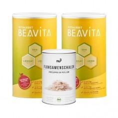 CH BEAVITA Ballaststoff-Diät: Doppelpack Vitalkost + nu3 Bio Flohsamen-Schalen