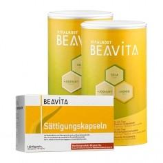 BEAVITA Sättigungs-Paket: Doppelpack Vitalkost + Sättigungskapseln