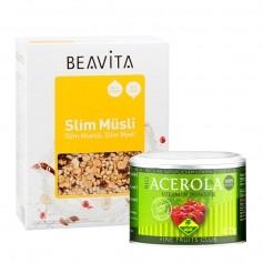 BEAVITA Slim Müsli Superfood Frühstücksset mit Bio Acerola Pulver