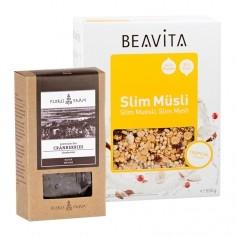 BEAVITA Slim Müsli Superfood Frühstücksset mit Bio Cranberrys