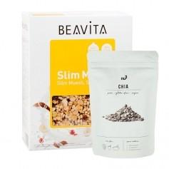 BEAVITA Slim Müsli Superfood Frühstücksset mit Chia Samen