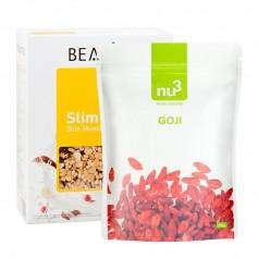 BEAVITA Slim Müsli Superfood Frühstücksset mit Goji Beeren