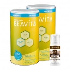 Beavita Slimming-Paket: Doppelpack Vitalkost + Organique Caffeine Slimming Serum