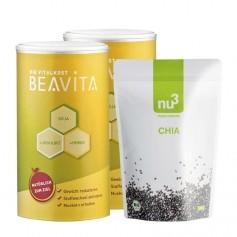 BEAVITA Superfood-Diät Paket: Doppelpack Vitalkost + nu3 Bio Chiasamen