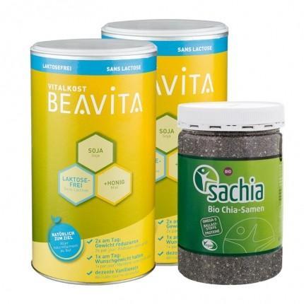 Beavita Superfood Diät: Vitalkost Doppelpack + Sachia Bio Chia Samen