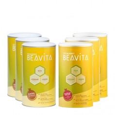 BEAVITA Vitalkost 3 x Original + 3 x Schoko, Pulver