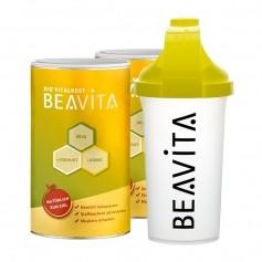 BEAVITA Vitalkost Doppelpack mit Slim Shaker