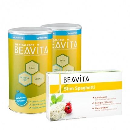 BEAVITA Vitalkost Laktosefrei Probierpaket mit Slim Spaghetti