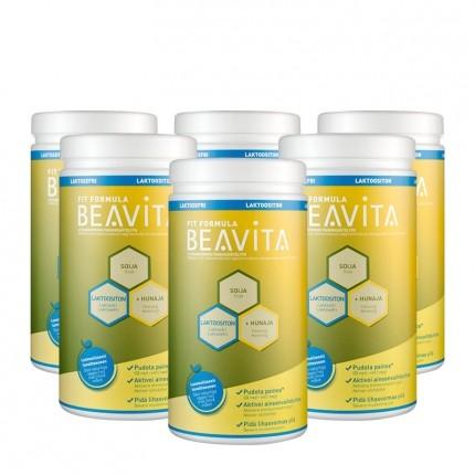 6 x BEAVITA Vitalkost Laktosefri, Pulver
