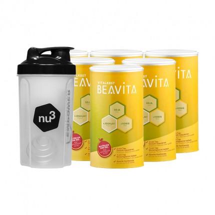 BEAVITA Vitalkost nu3-Profipaket mit Shaker